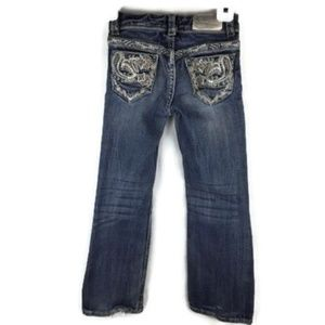Grace in LA Bottoms - Grace Jeans Size 5 Girls Adjustable Tabs Whiskered